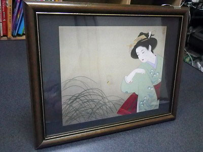 家庭保育園の第三教室 日本画の額縁表側